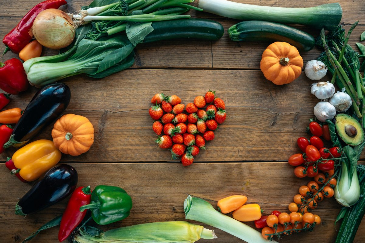 Gemüse und Obst sind gesund
