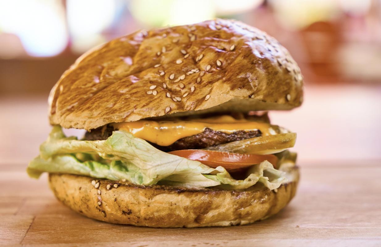 Ein leckerer Burger