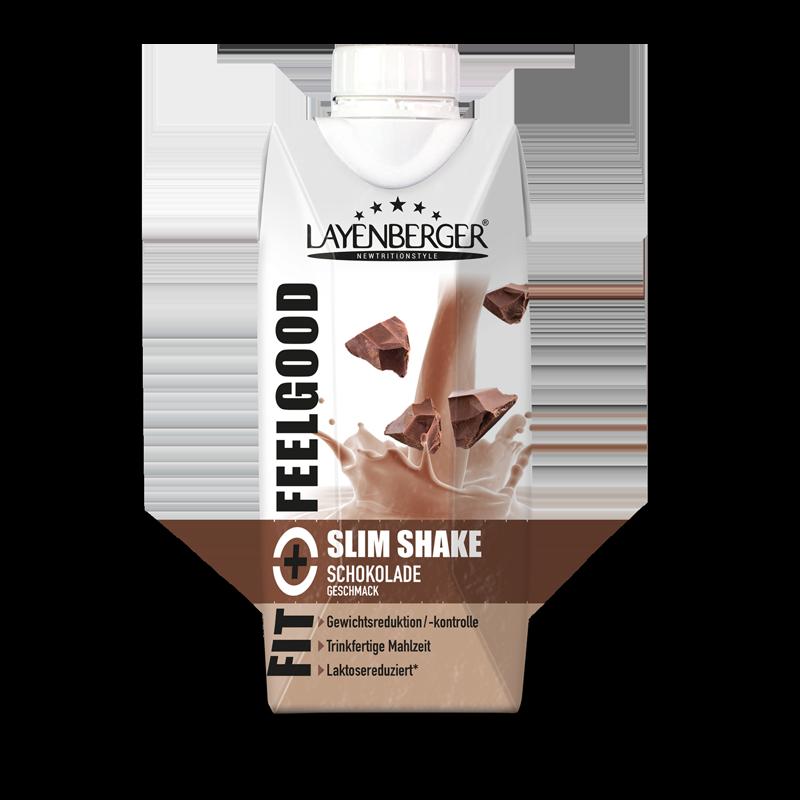 Ein Packung Fit+Feelgood fixfertig Shake Schokolade