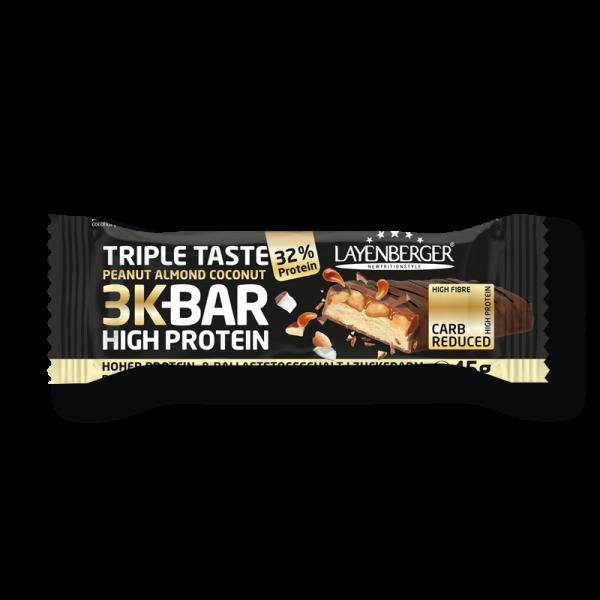Der Layenberger 3K Triple Taste Riegel.
